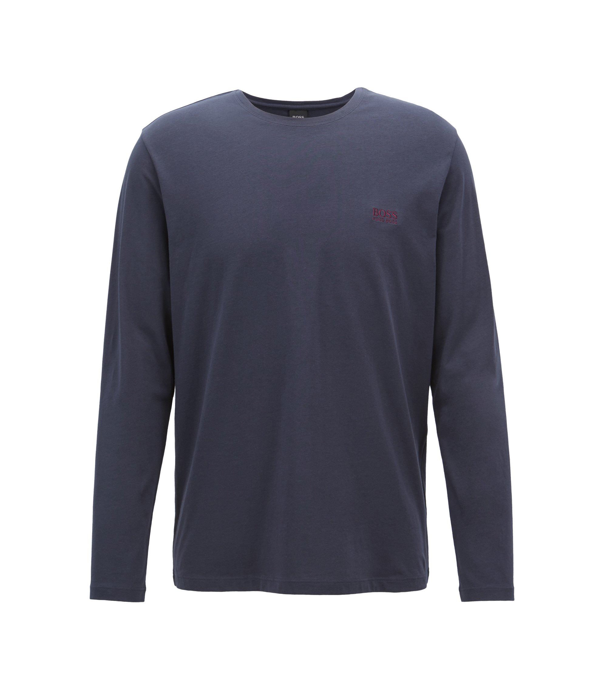 Regular-fit loungetop van katoenjersey met stretch, Donkerblauw