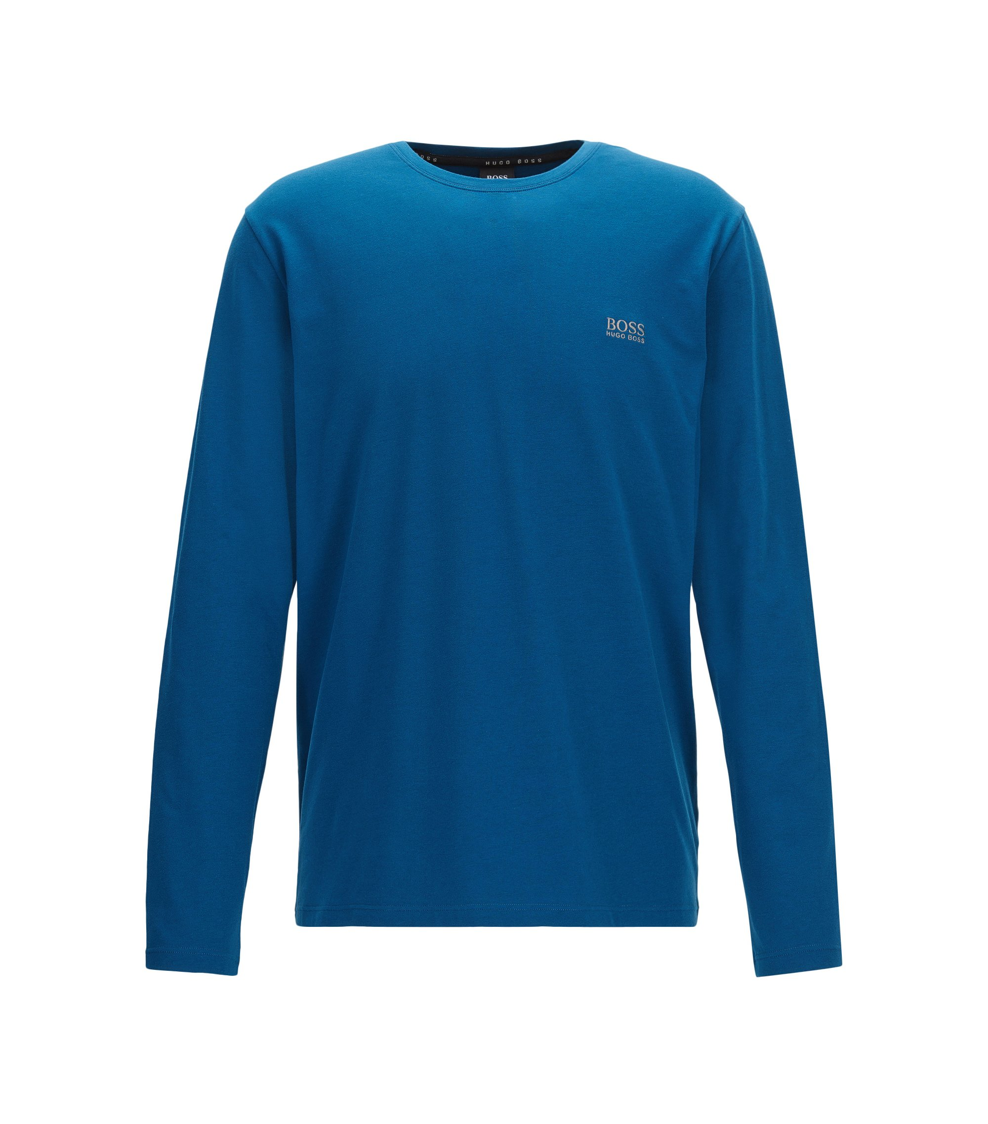Regular-fit loungetop van katoenjersey met stretch, Blauw