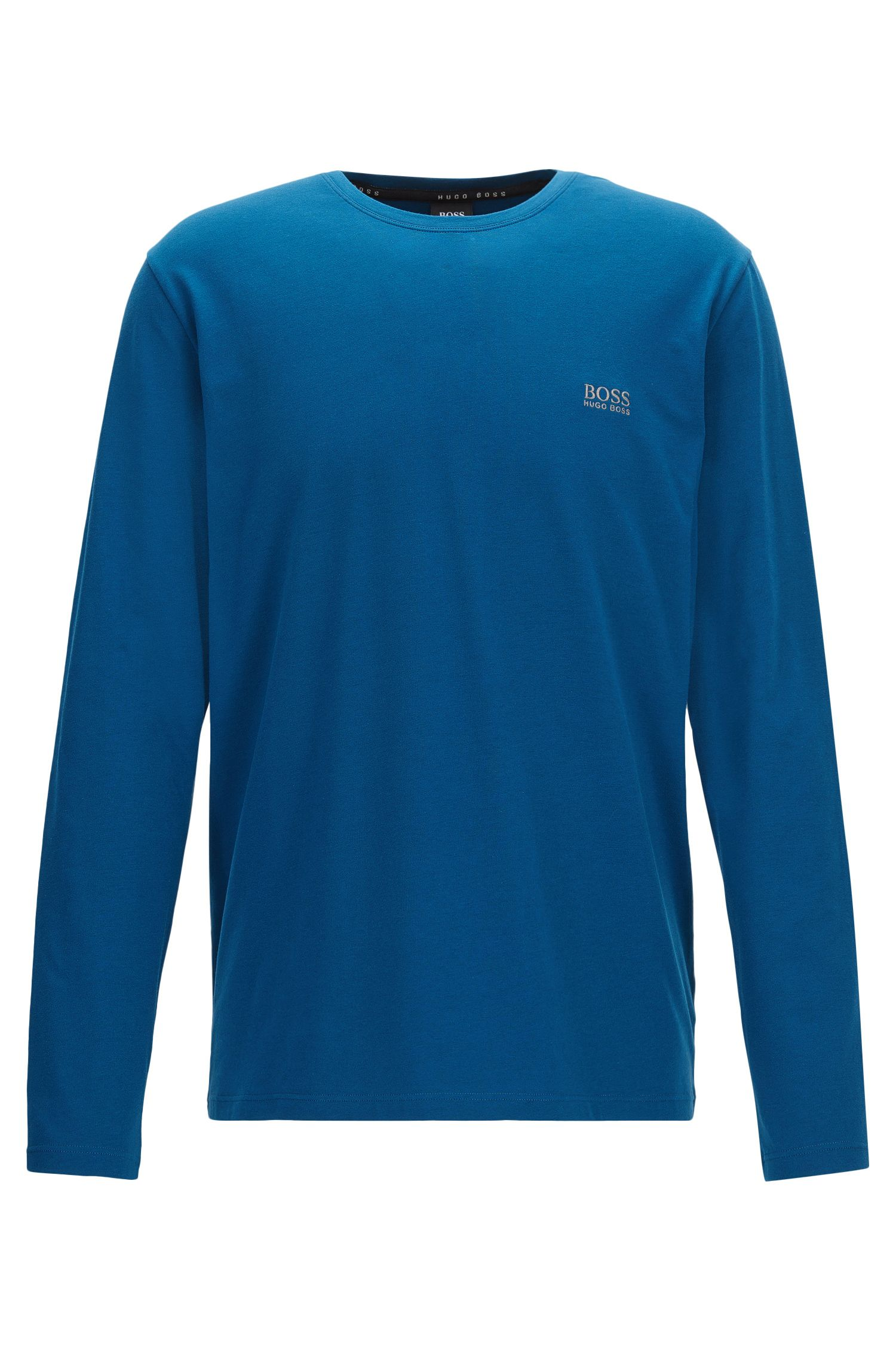 Regular-fit loungetop van katoenjersey met stretch