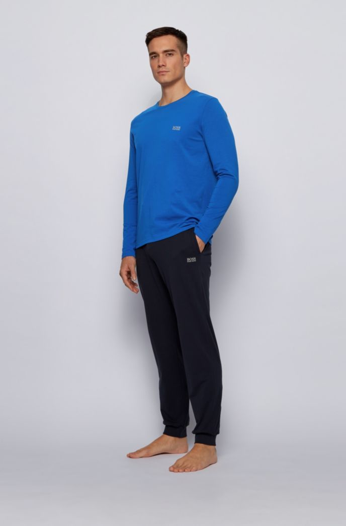 Regular-fit loungewear top in stretch cotton jersey