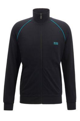 Stretch Fit Jacket In Cotton Loungewear Regular tQodsrxCBh
