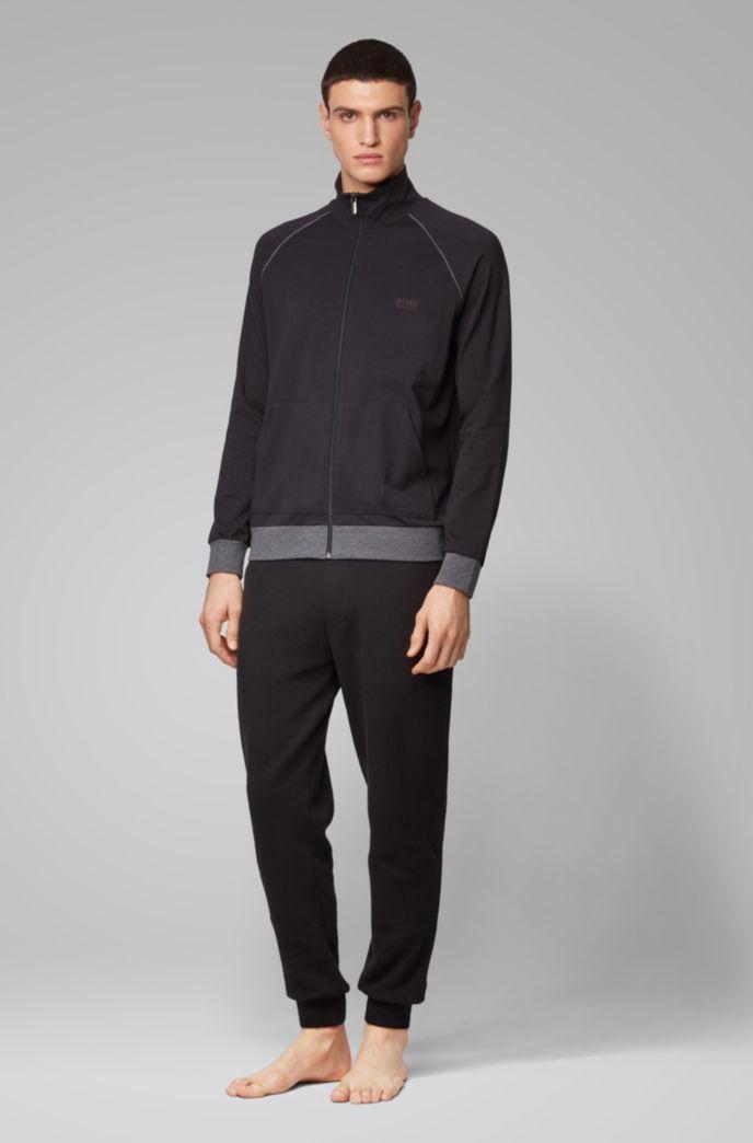 Cazadora loungewear regular fit en algodón elástico