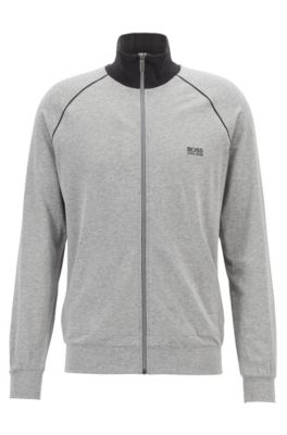 Veste d'intérieur Regular Fit en coton stretch, Gris