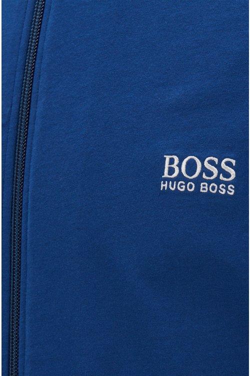 Hugo Boss - Regular-fit loungewear jacket in stretch cotton - 2
