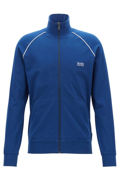 Veste d'intérieur Regular Fit en coton stretch, Bleu