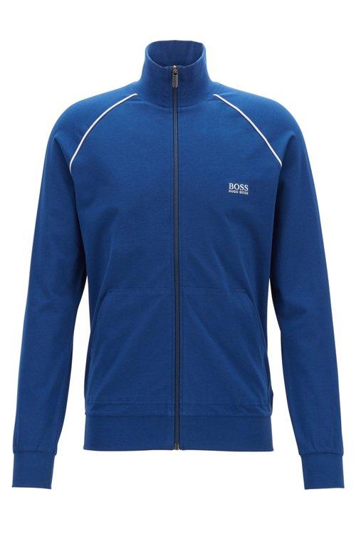 Hugo Boss - Regular-fit loungewear jacket in stretch cotton - 1