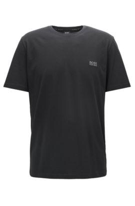 T-shirt d'intérieur Regular Fit en coton stretch, Noir