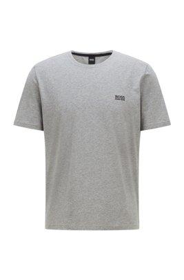T-shirt d'intérieur en coton stretch à logo, Gris