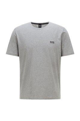 Loungewear-T-Shirt aus Stretch-Baumwolle mit Logo, Grau