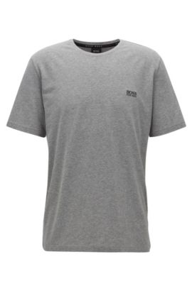 T-shirt d'intérieur Regular Fit en coton stretch, Gris