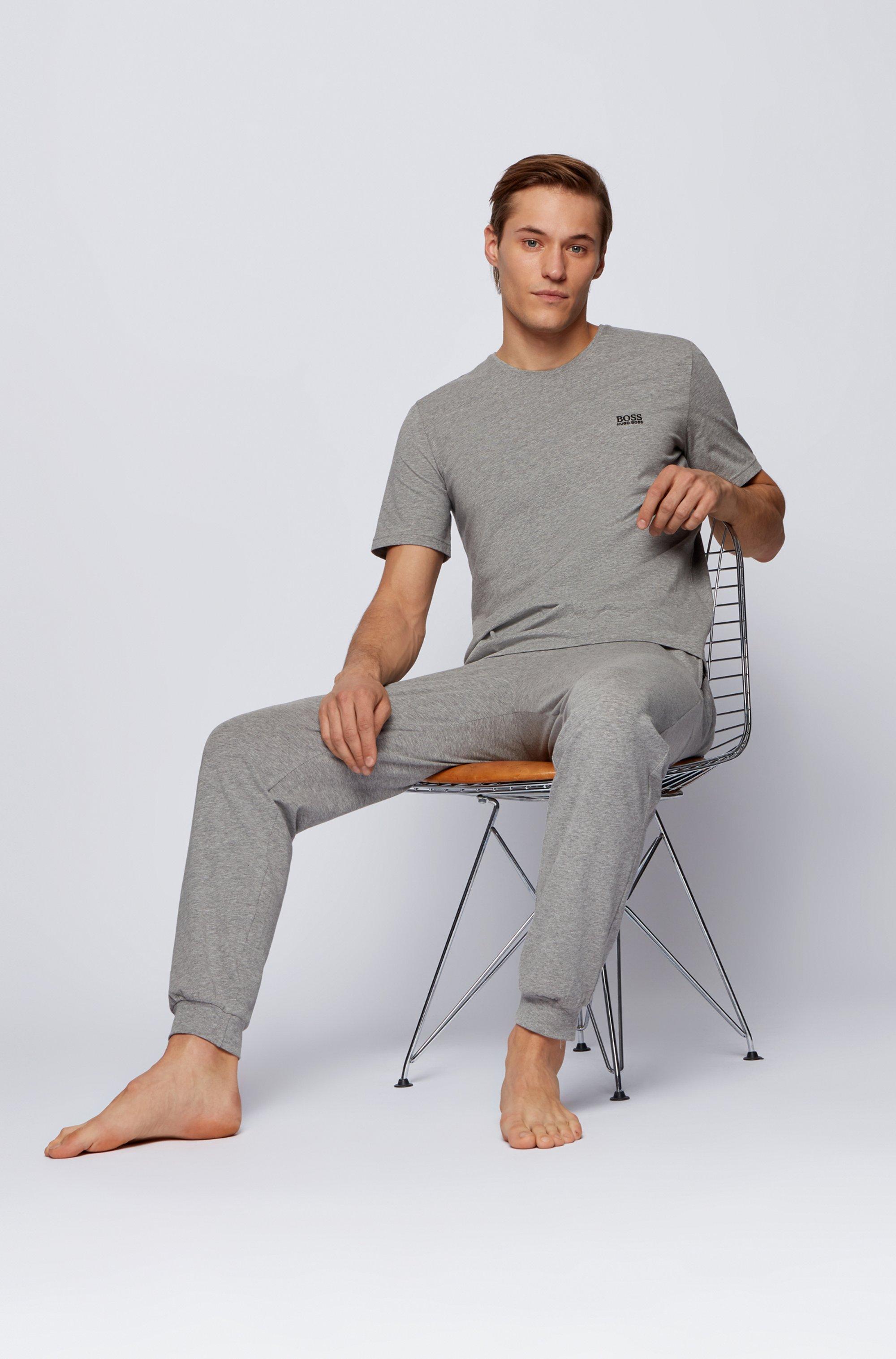 T-shirt d'intérieur en coton stretch à logo