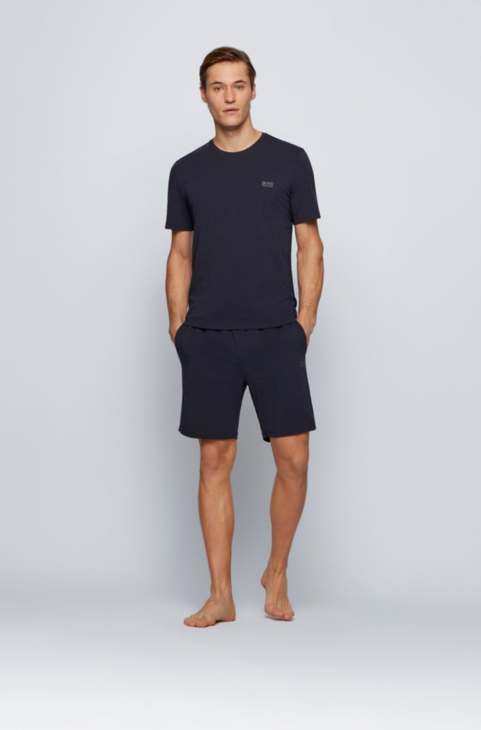 Stretch-cotton loungewear T-shirt with logo