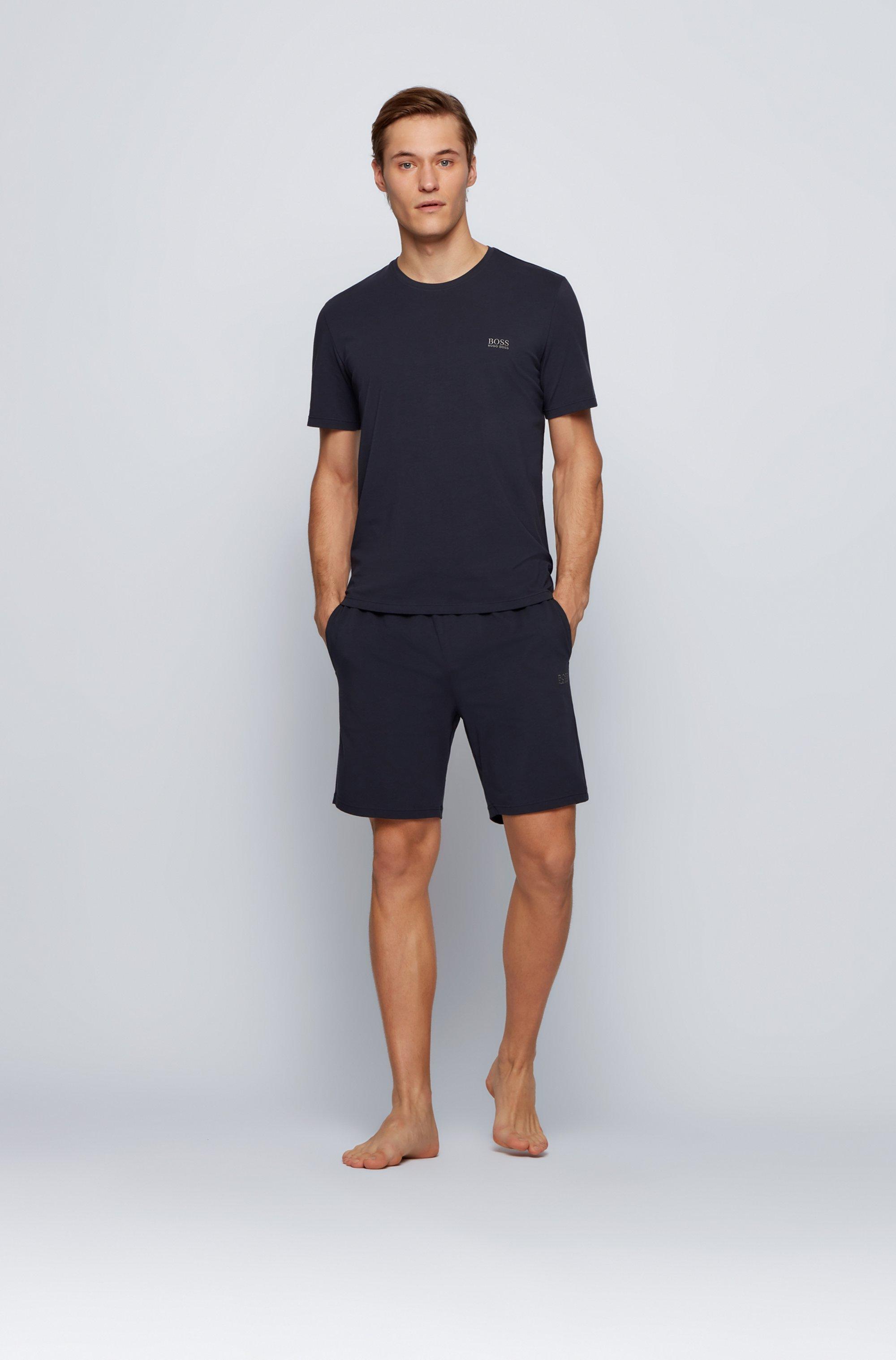 Loungewear-T-Shirt aus Stretch-Baumwolle mit Logo