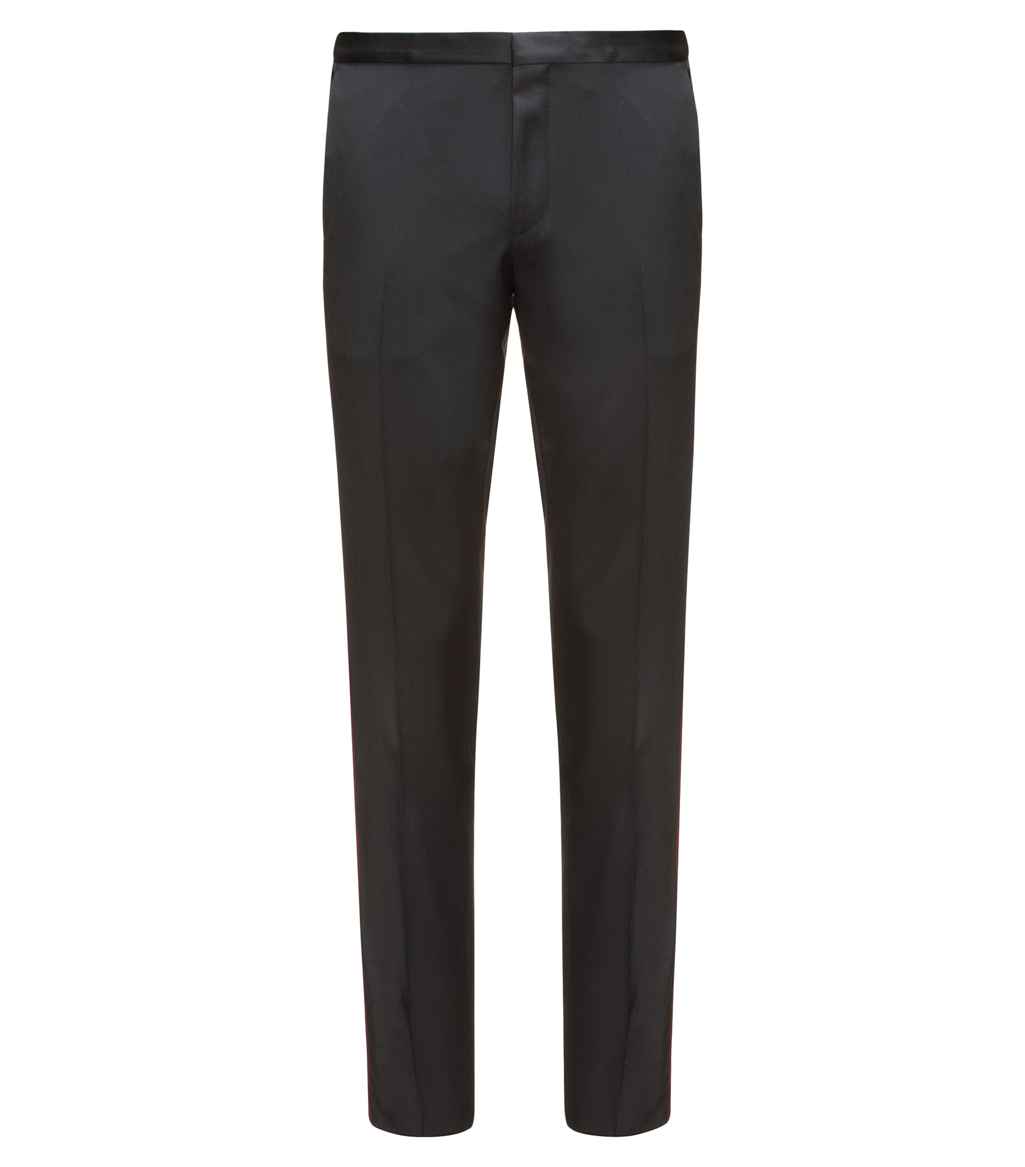 Pantalon Extra Slim Fit en laine vierge, Noir