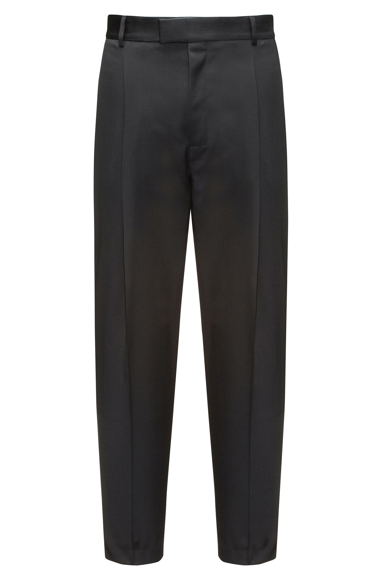 Relaxed-fit trousers in virgin wool