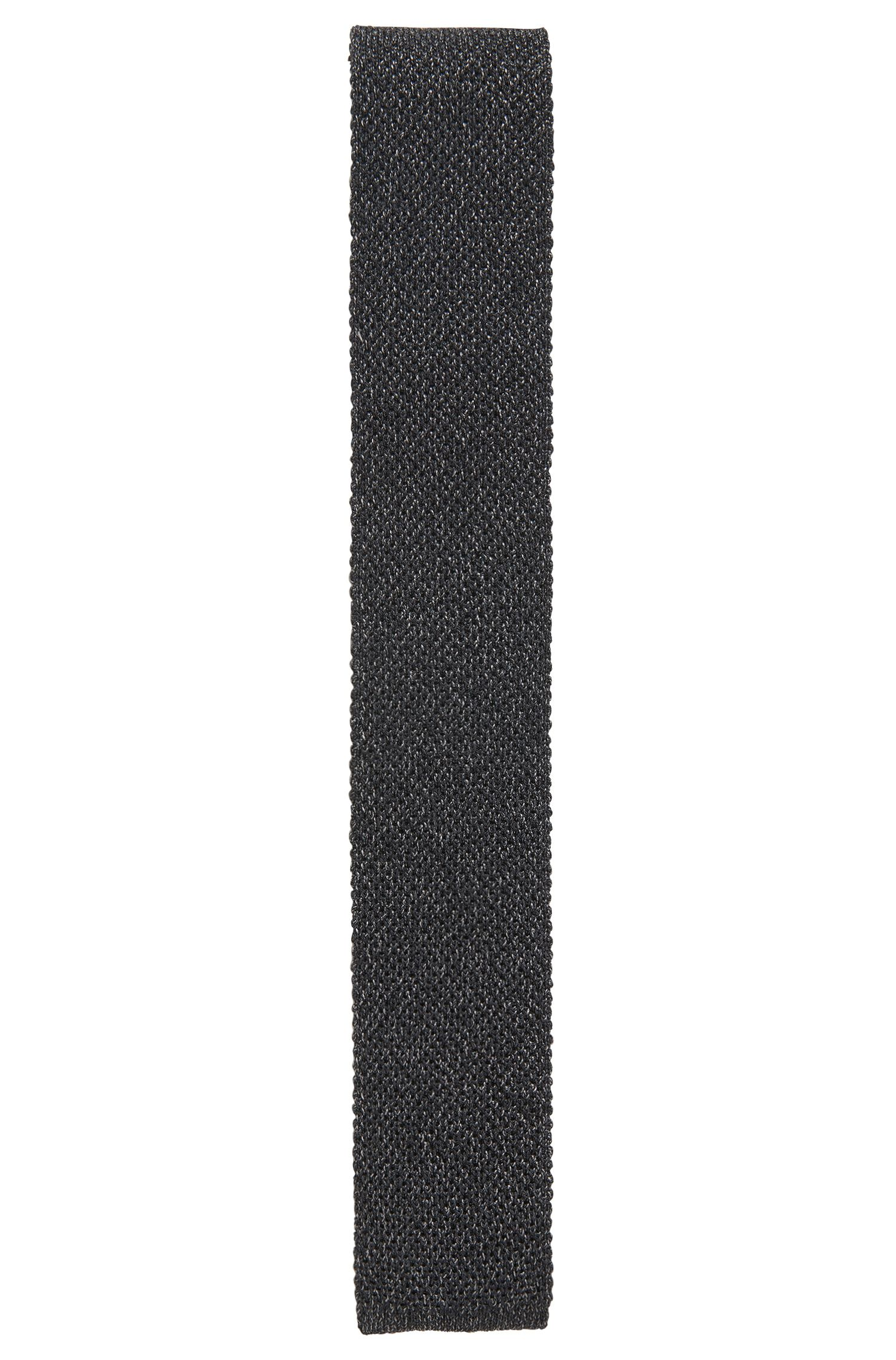 Cravate tricotée réversible en laine mélangée