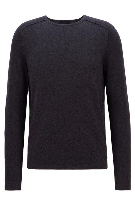 Maglione in cotone con guarnizioni tubolari, Grigio scuro