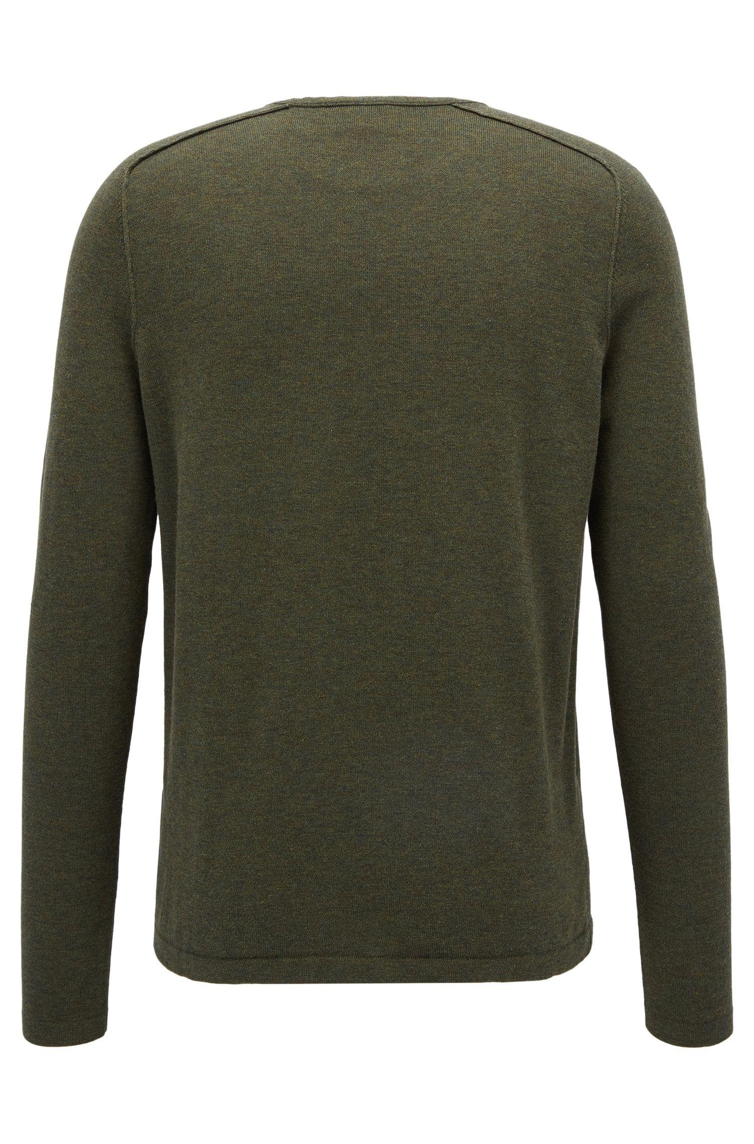 Pullover aus gestrickter Baumwolle mit Paspel-Details