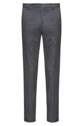 Extra-slim-fit chinos in stretch cotton, Grey