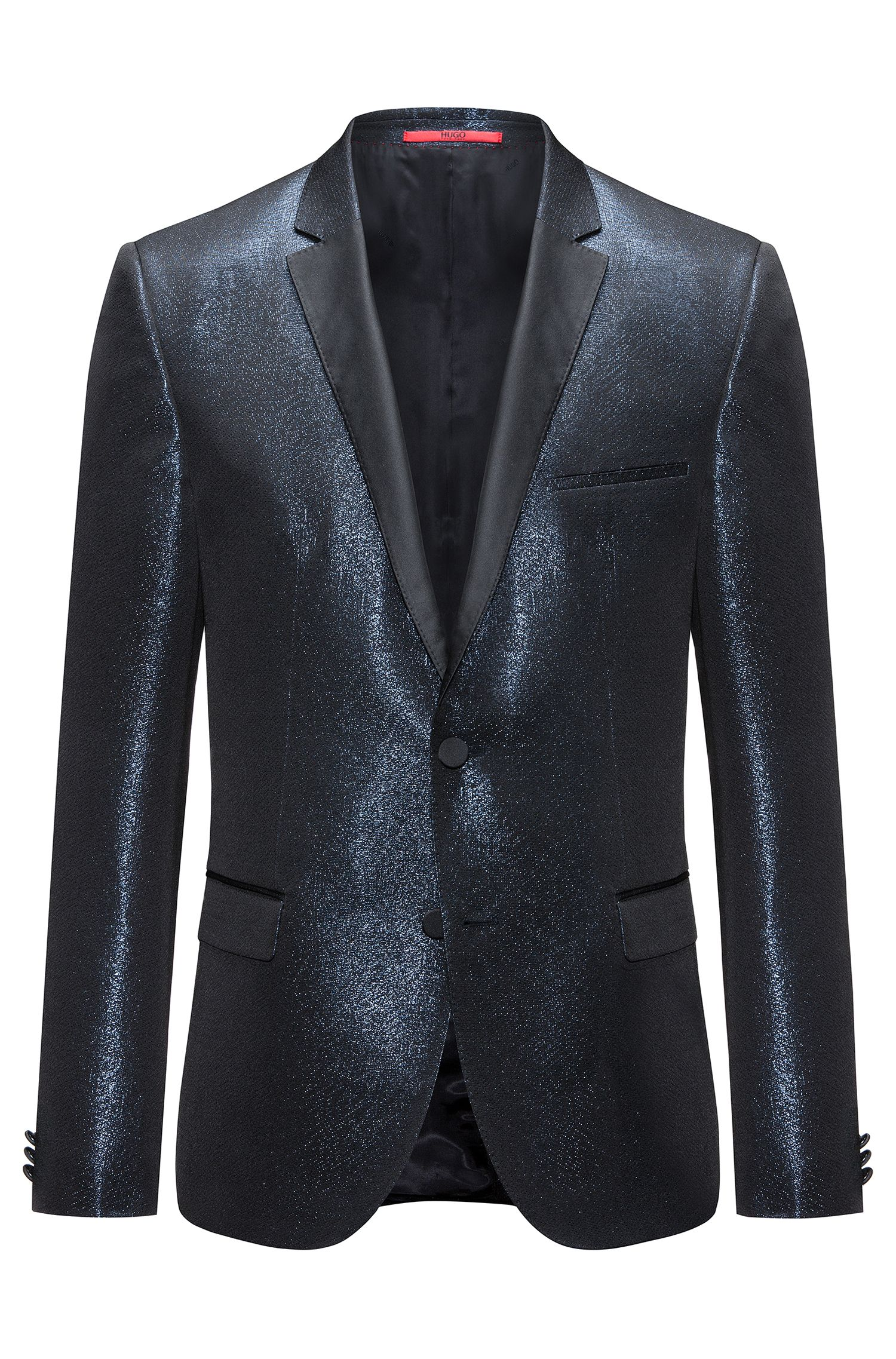 Chaqueta extra slim fit en mouliné brillante