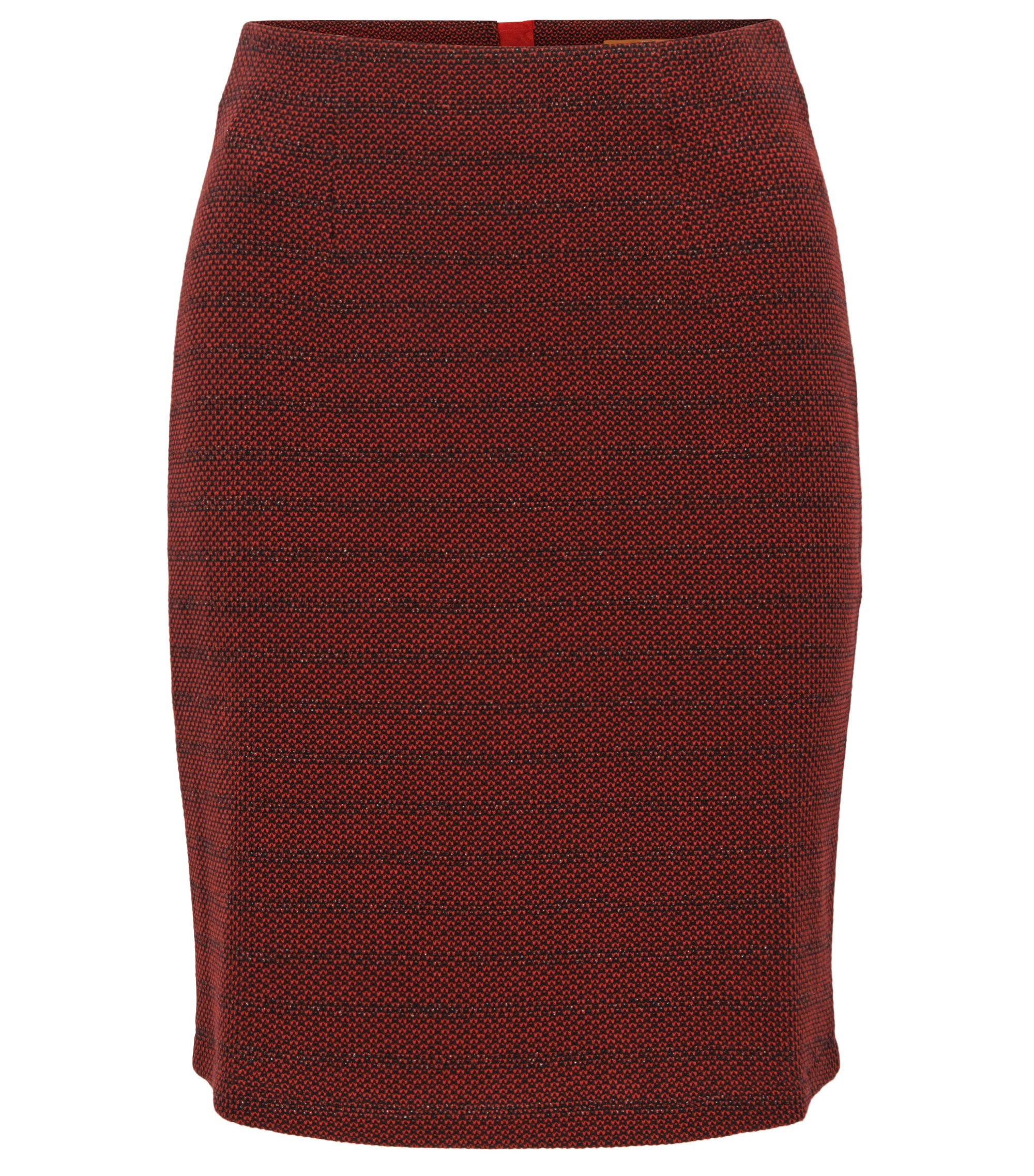 Structured pencil skirt in a cotton blend, Red