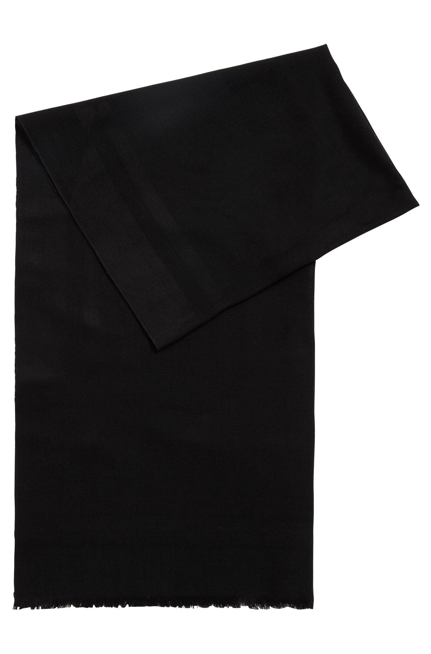 Écharpe en soie mélangée à motif géométrique