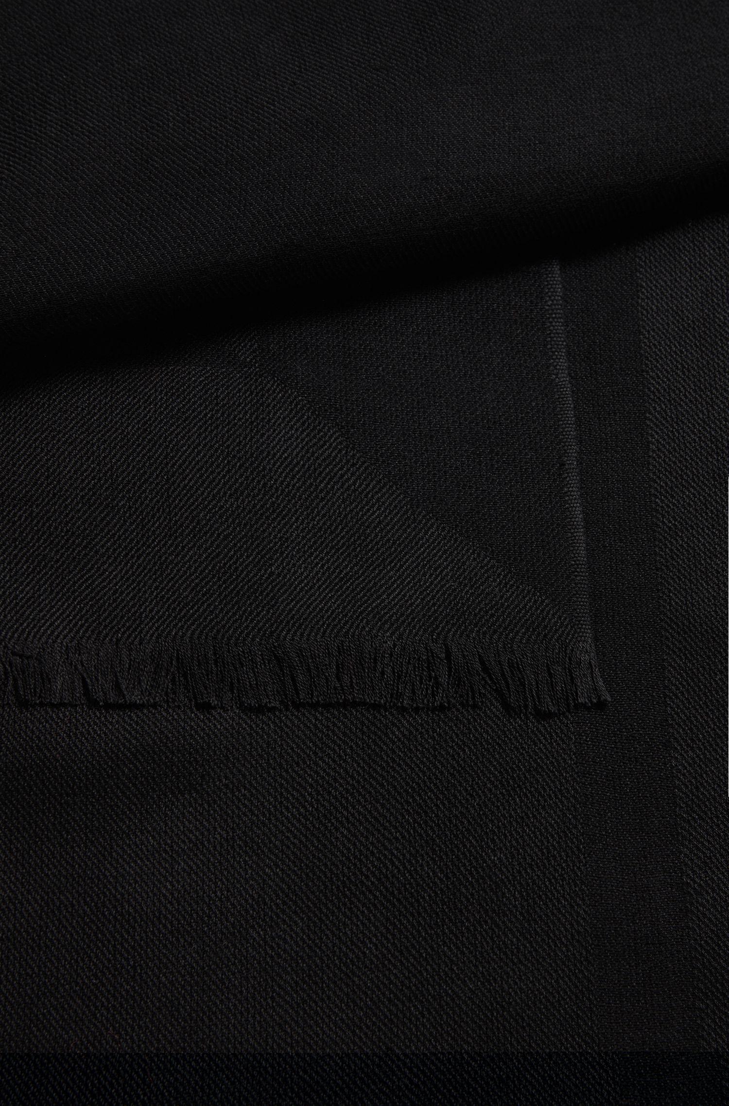 Gemusterter Schal aus Seiden-Mix mit Wolle