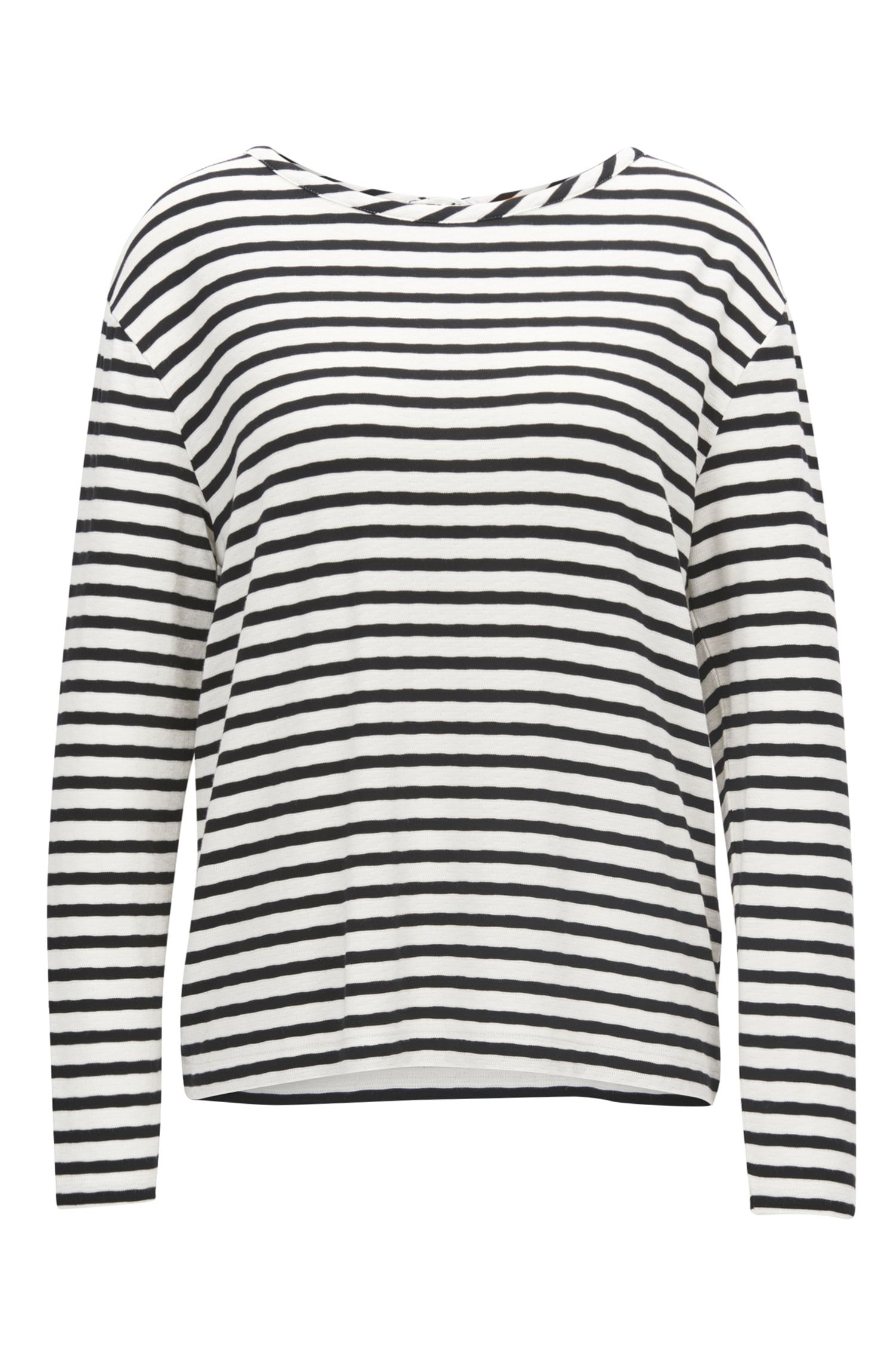 Pull rayé en jersey stretch