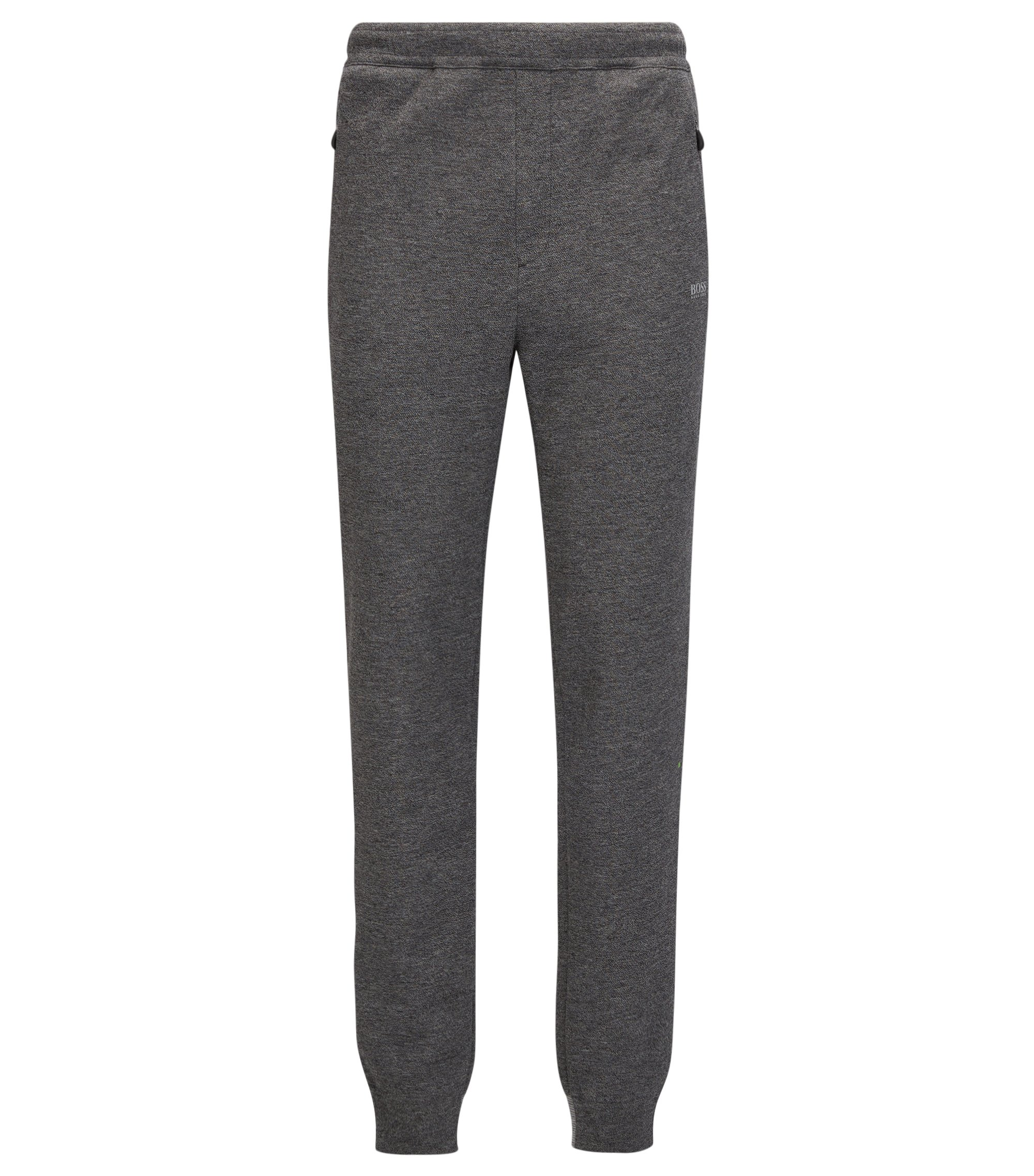 Cotton-blend jogging bottoms in a regular fit, Light Grey