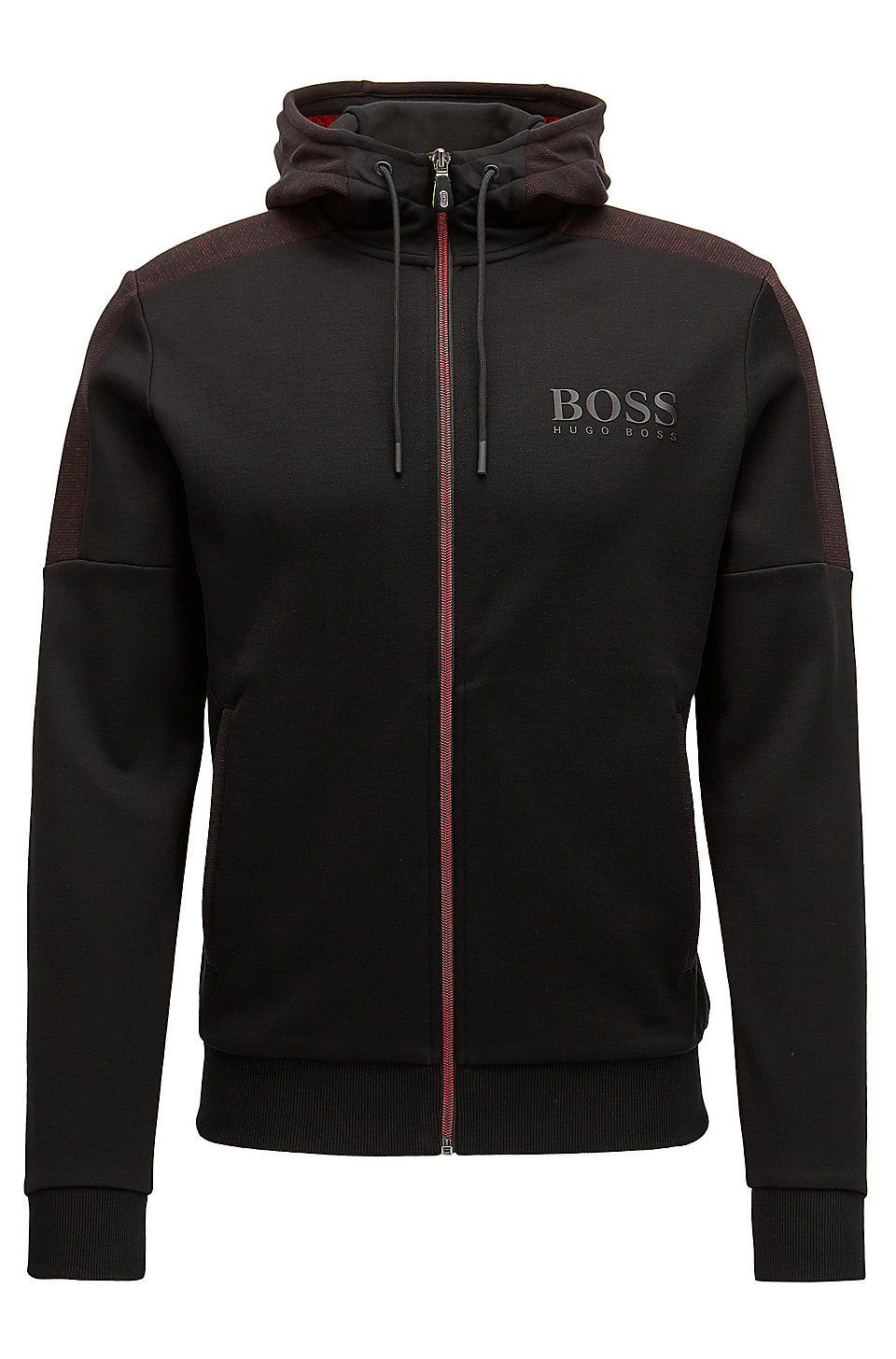 boss regular fit jacket in a cotton blend. Black Bedroom Furniture Sets. Home Design Ideas