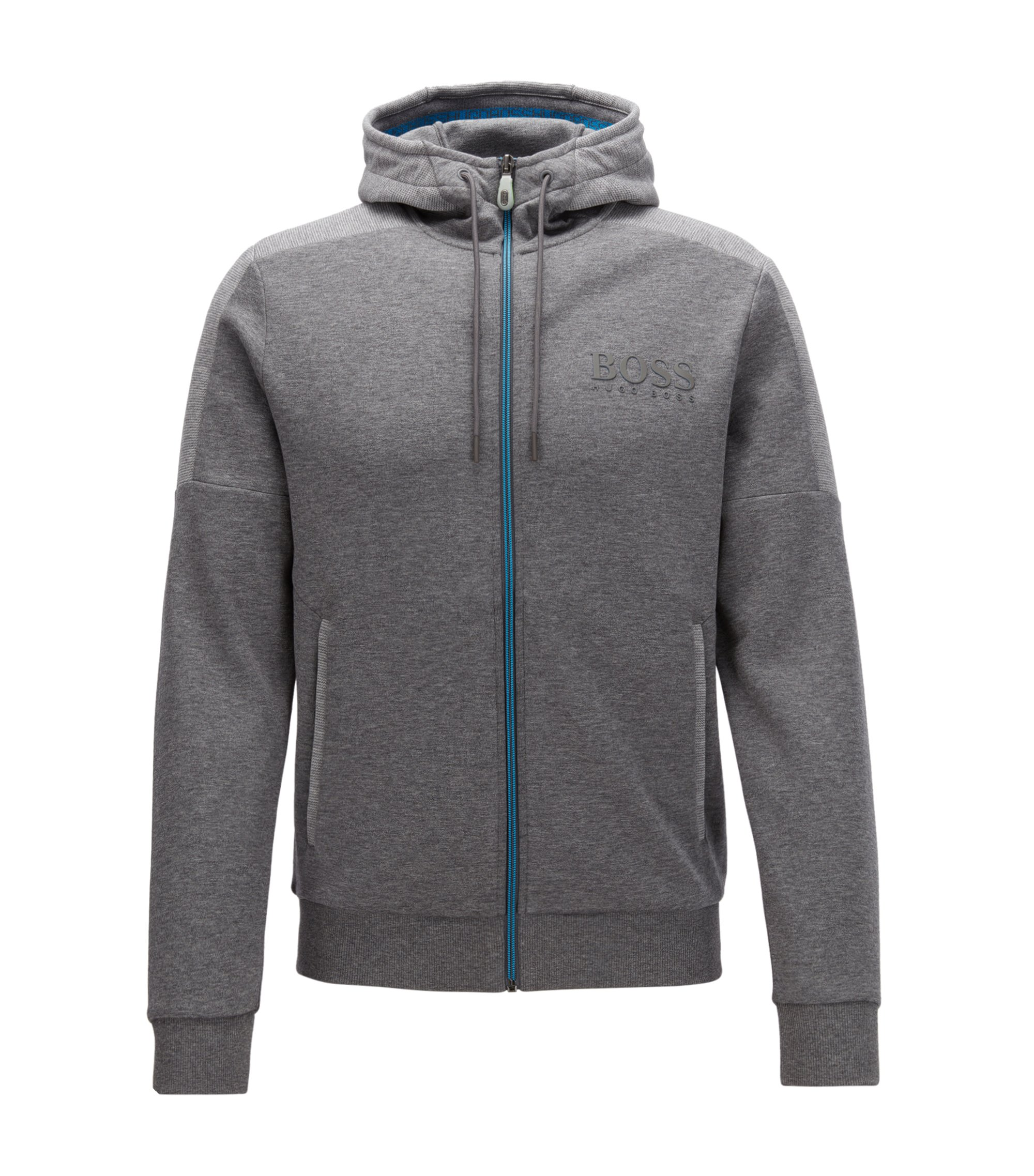 Regular-fit jacket in a cotton blend, Grey