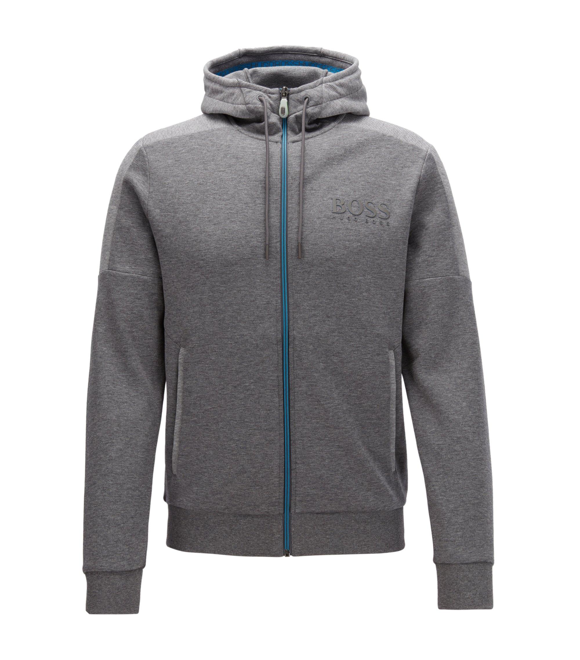 Regular-Fit Jacke aus Baumwoll-Mix, Grau