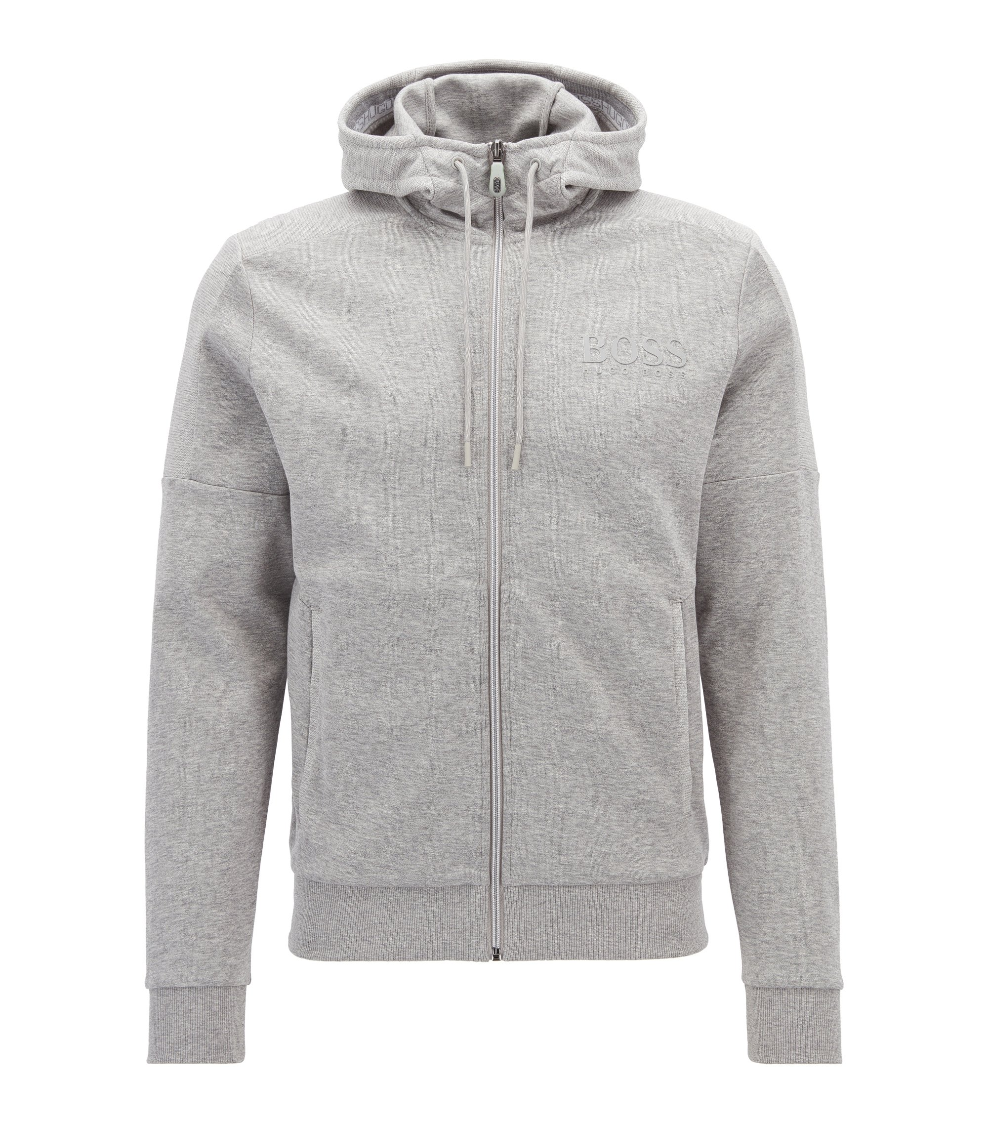 Veste Regular Fit en coton mélangé, Gris chiné