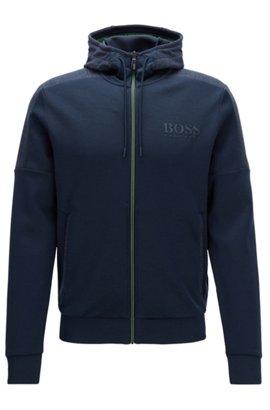 Regular-fit jacket in a cotton blend, Dark Blue
