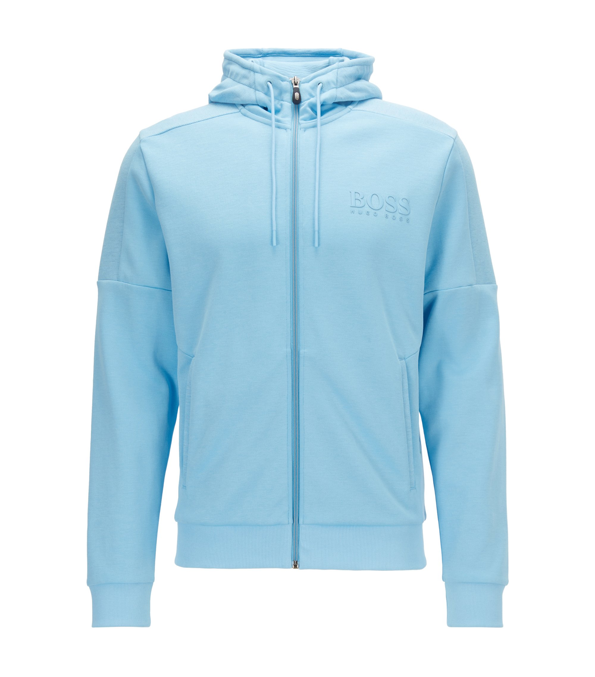 Regular-fit jacket in a cotton blend, Light Blue