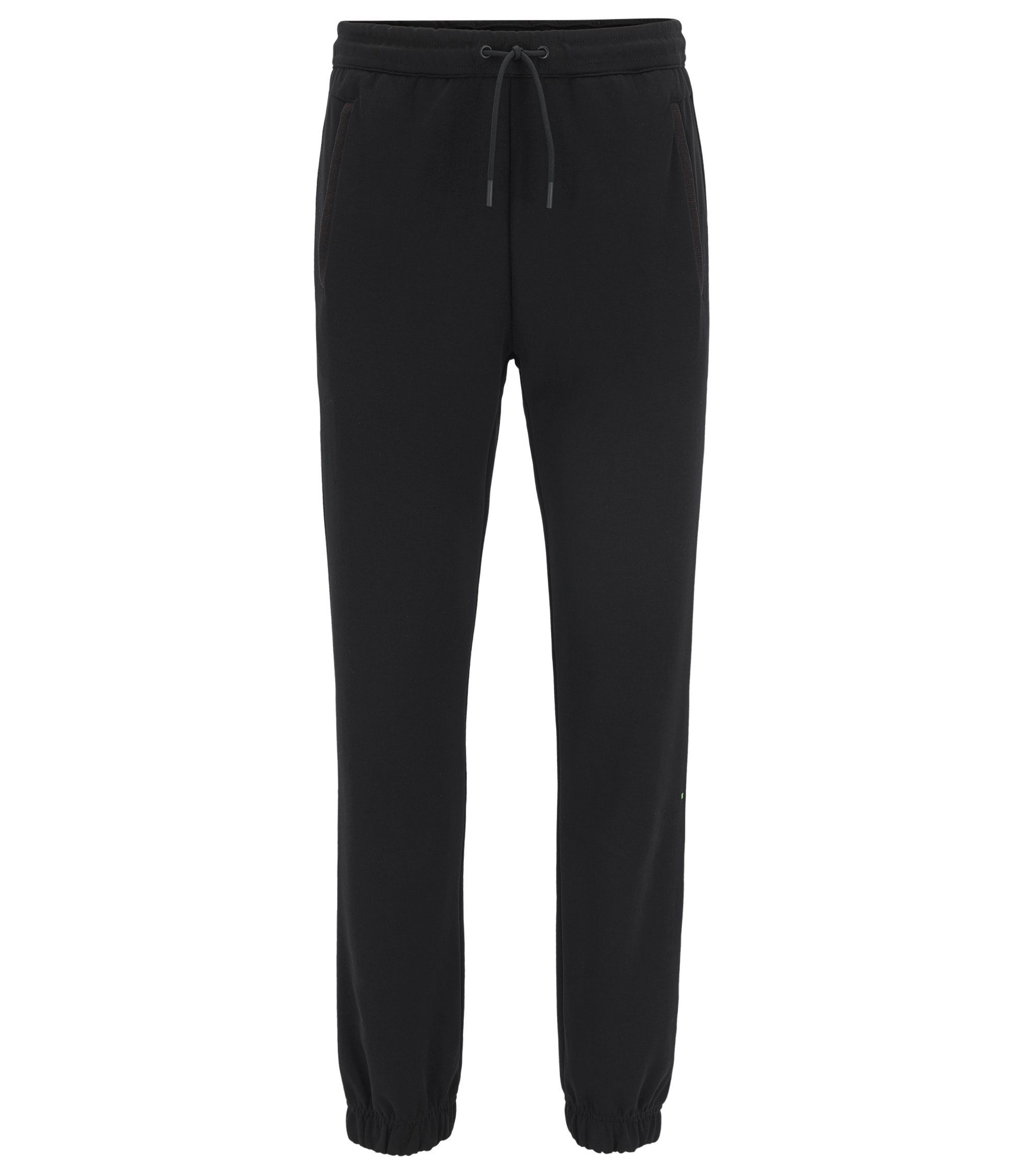 Regular-fit jogging bottoms in a cotton blend, Black