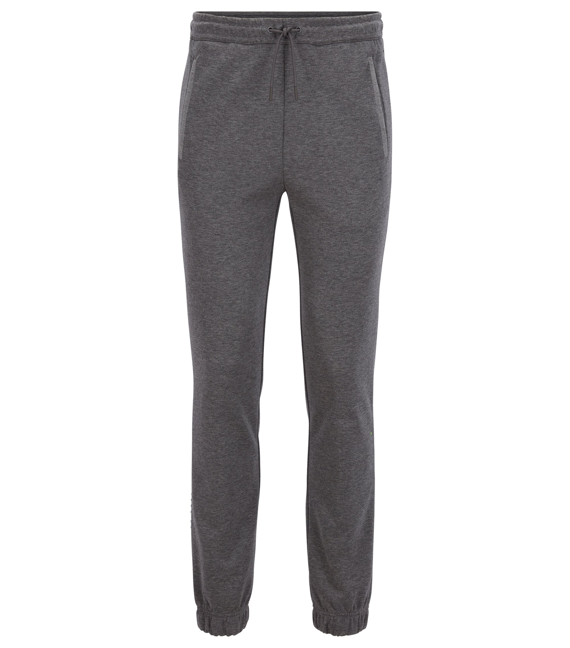 Regular-fit jogging bottoms in a cotton blend, Grey
