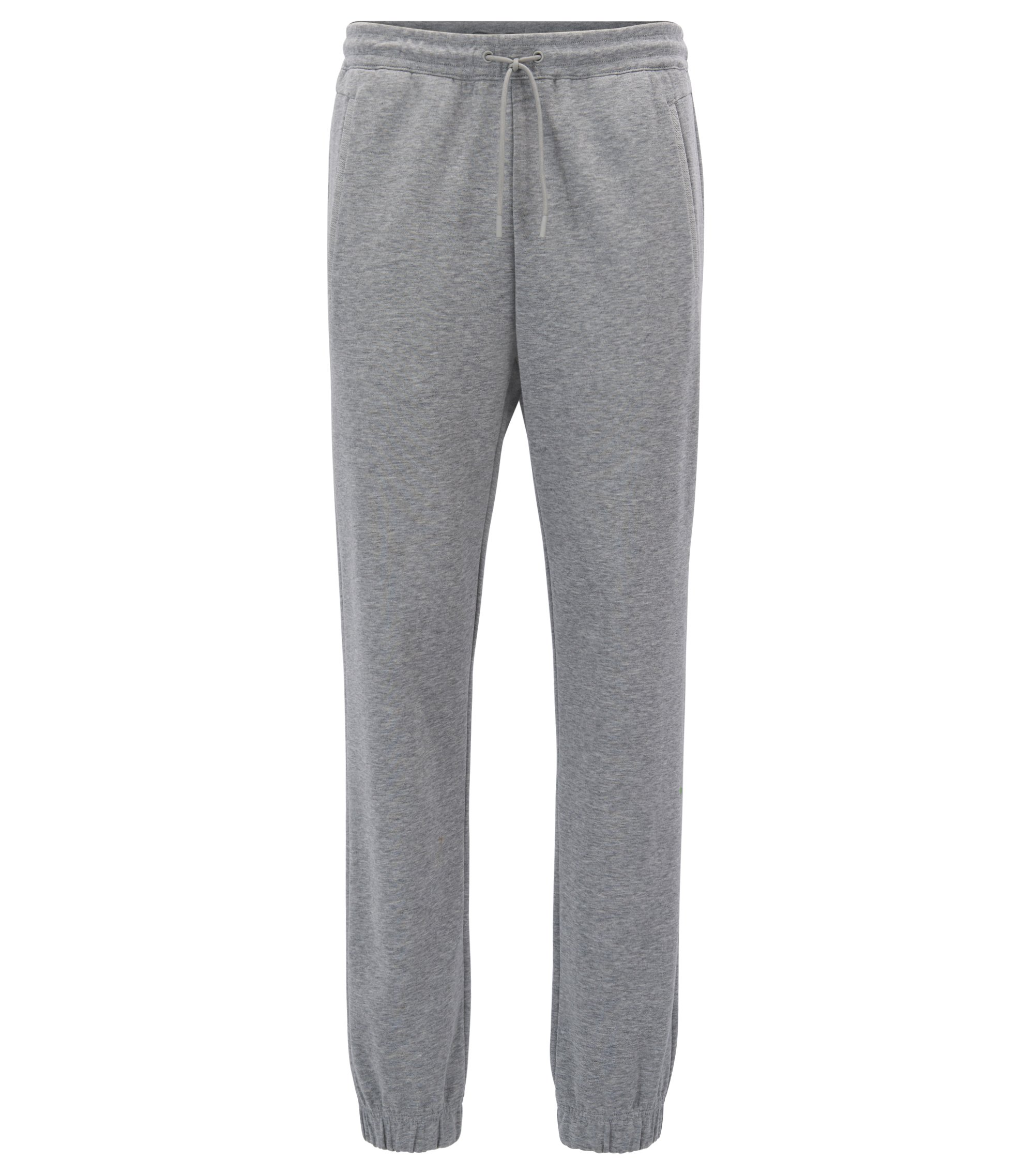 Regular-fit jogging bottoms in a cotton blend, Light Grey