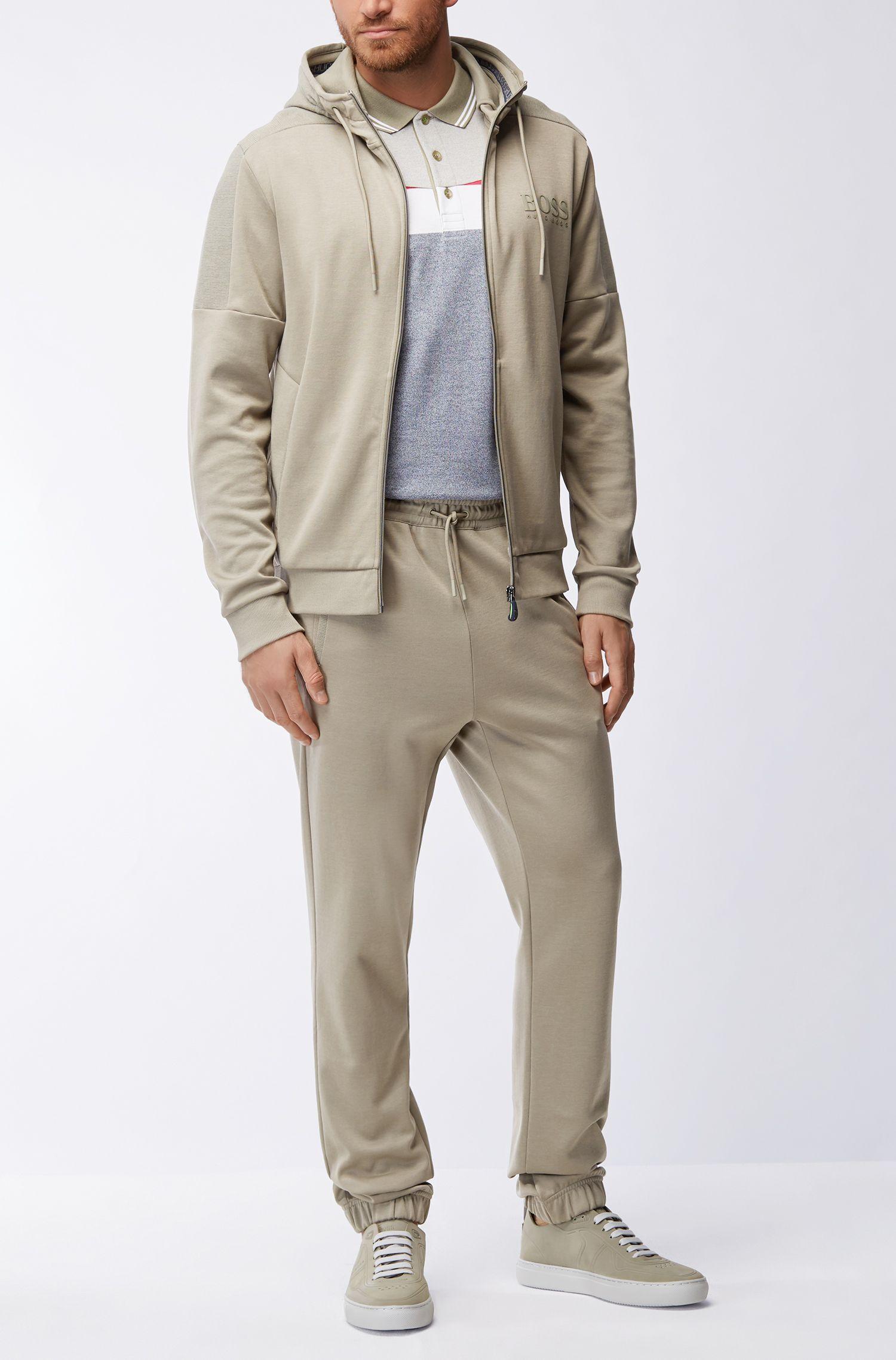 Pantalones de chándal regular fit en mezcla de algodón