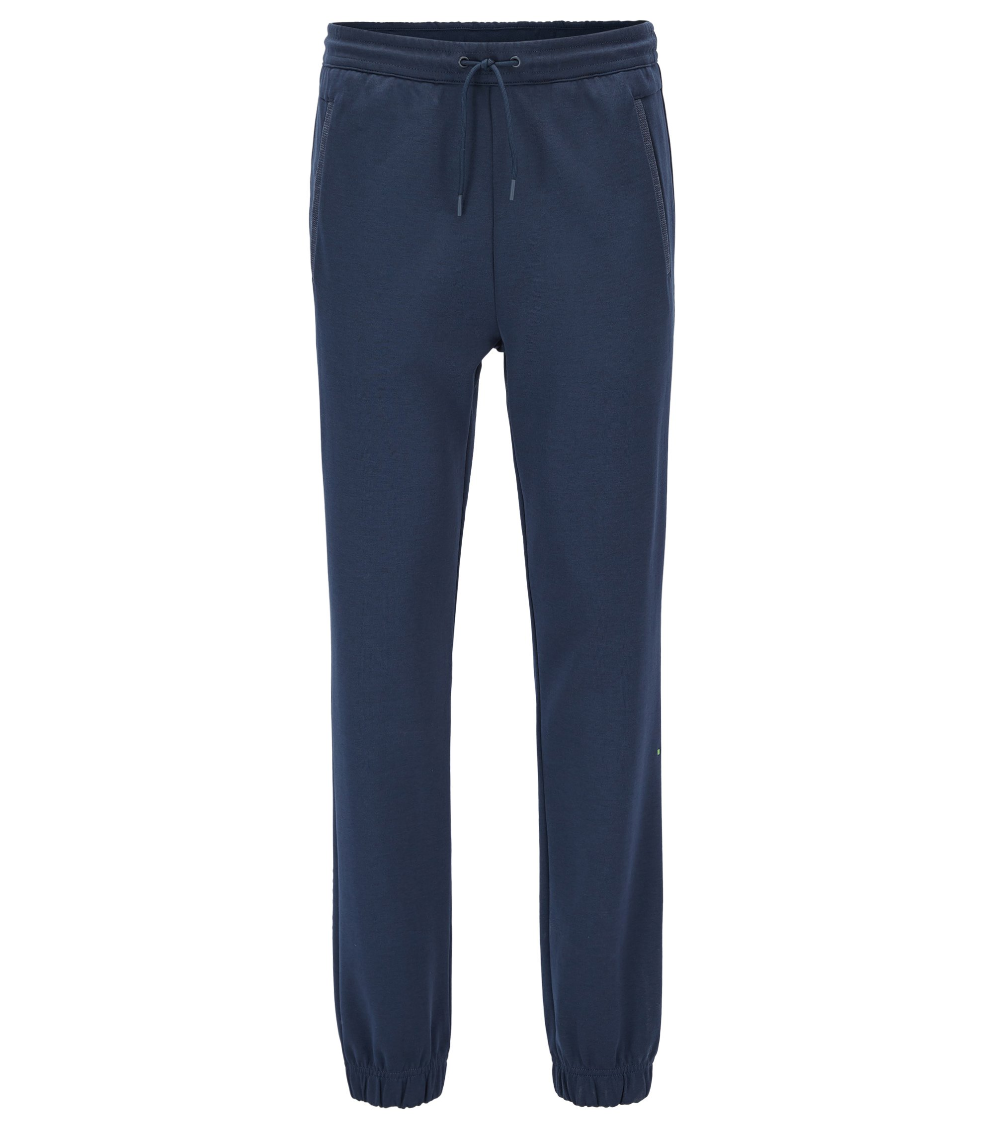 Regular-fit jogging bottoms in a cotton blend, Dark Blue
