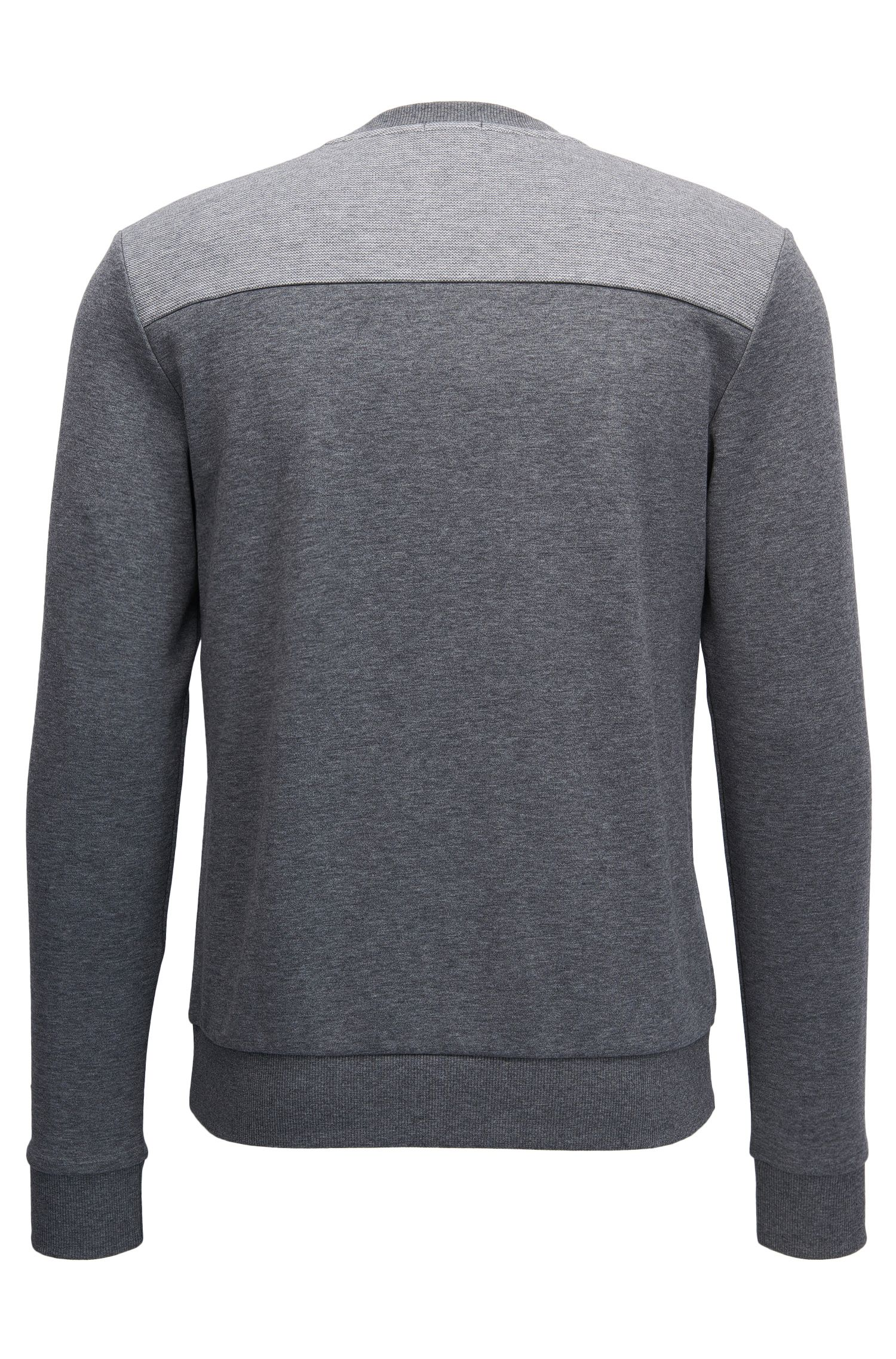 Cotton-blend sweater with two-tone logo