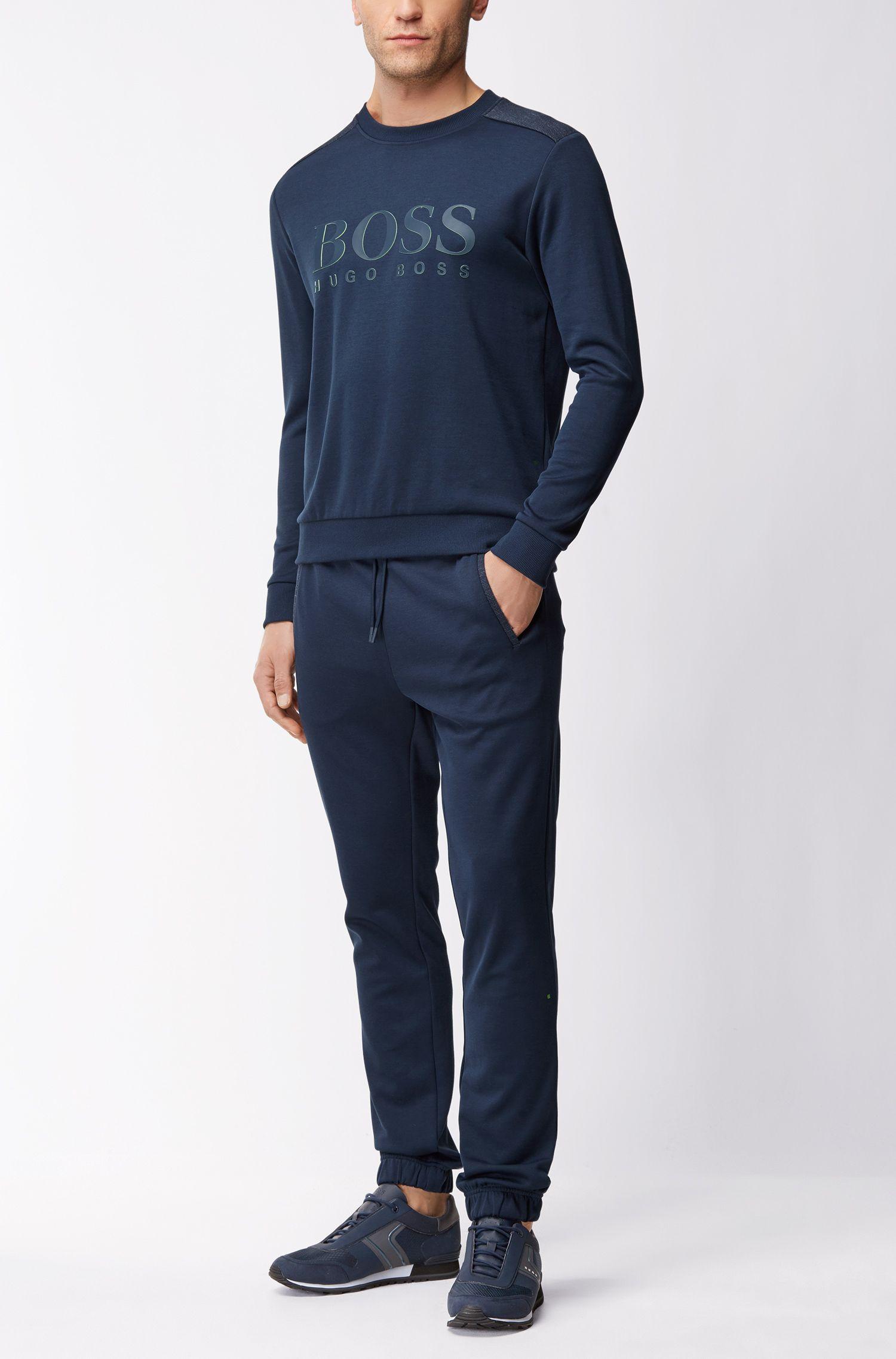 Maglione in misto cotone con logo bicolore