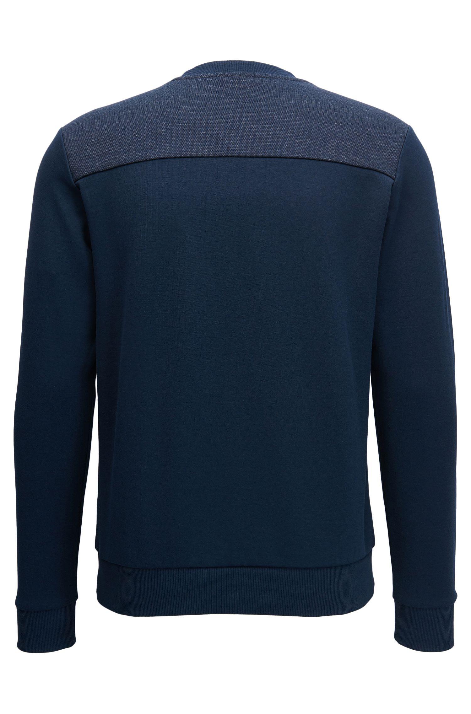 Jersey de mezcla de algodón con logo a dos tonos
