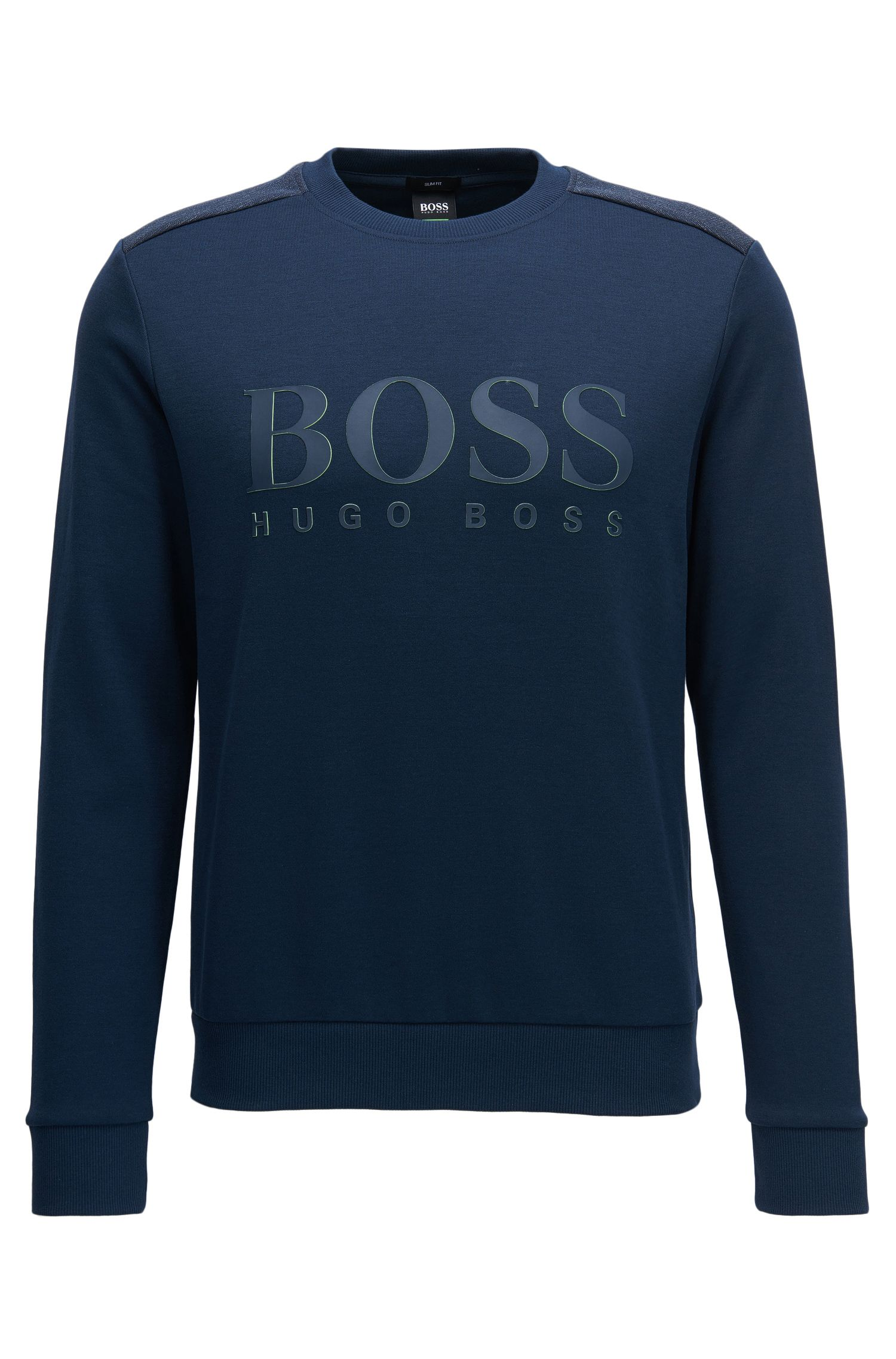 Sweat-shirt en coton mélangé à logo bicolore