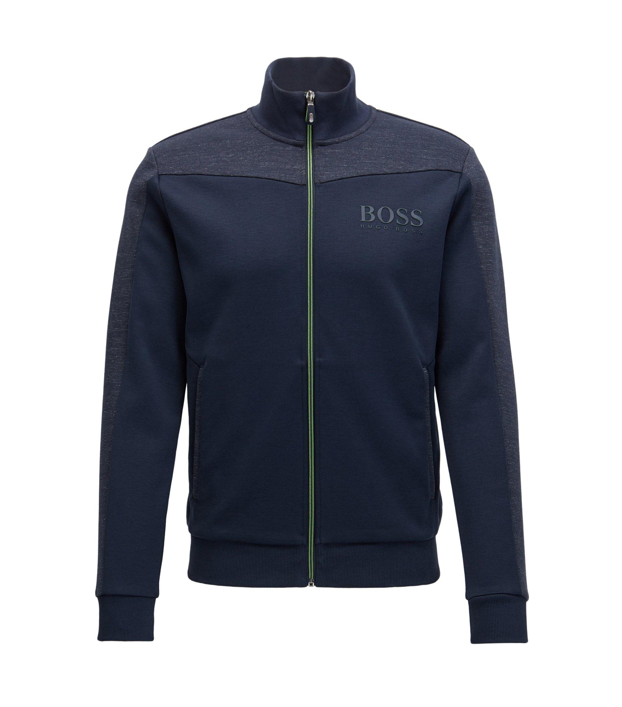 Regular-fit jas van een katoenmix, Donkerblauw