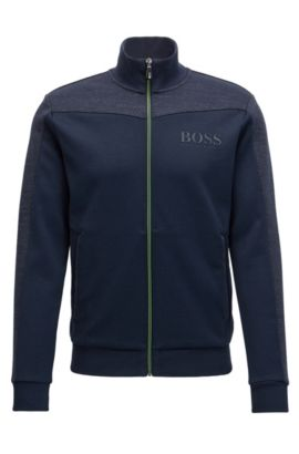 Regular-fit jacket in a cotton blend, Dark Blue