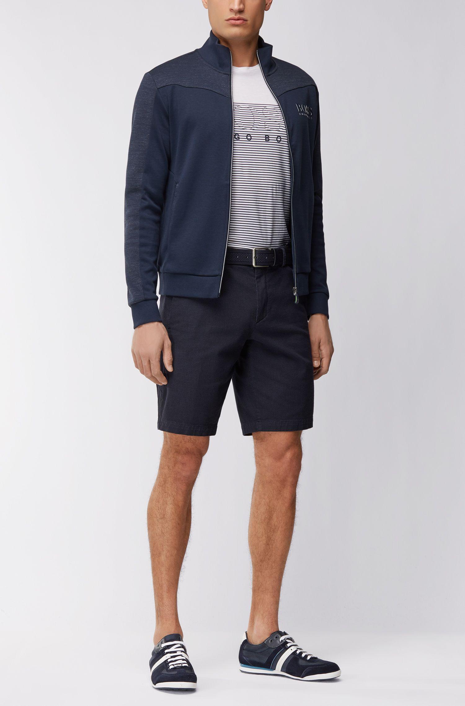 Regular-fit jacket in a cotton blend