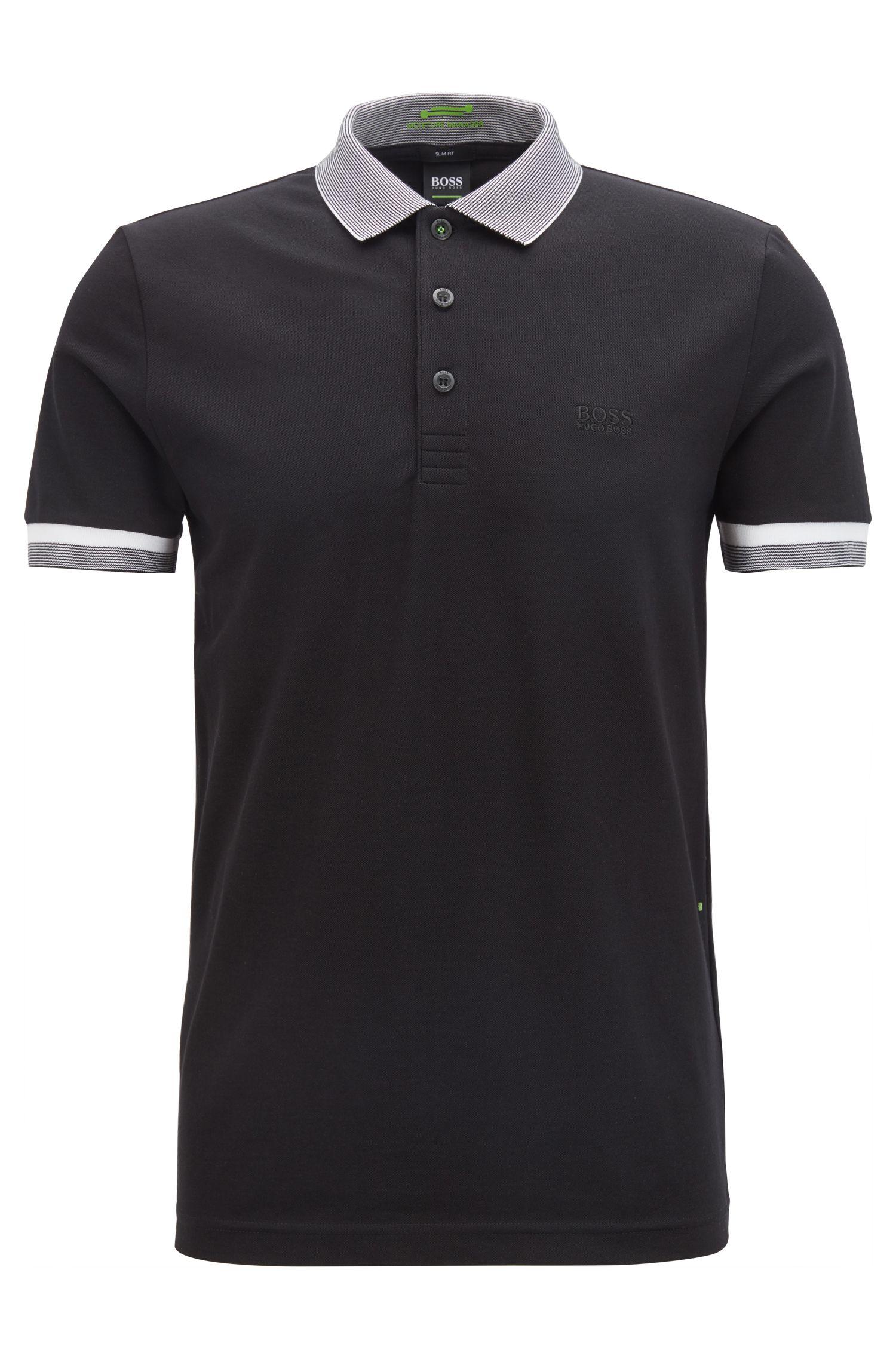 Polo Slim Fit en coton mélangé avec la fibreS.Café®