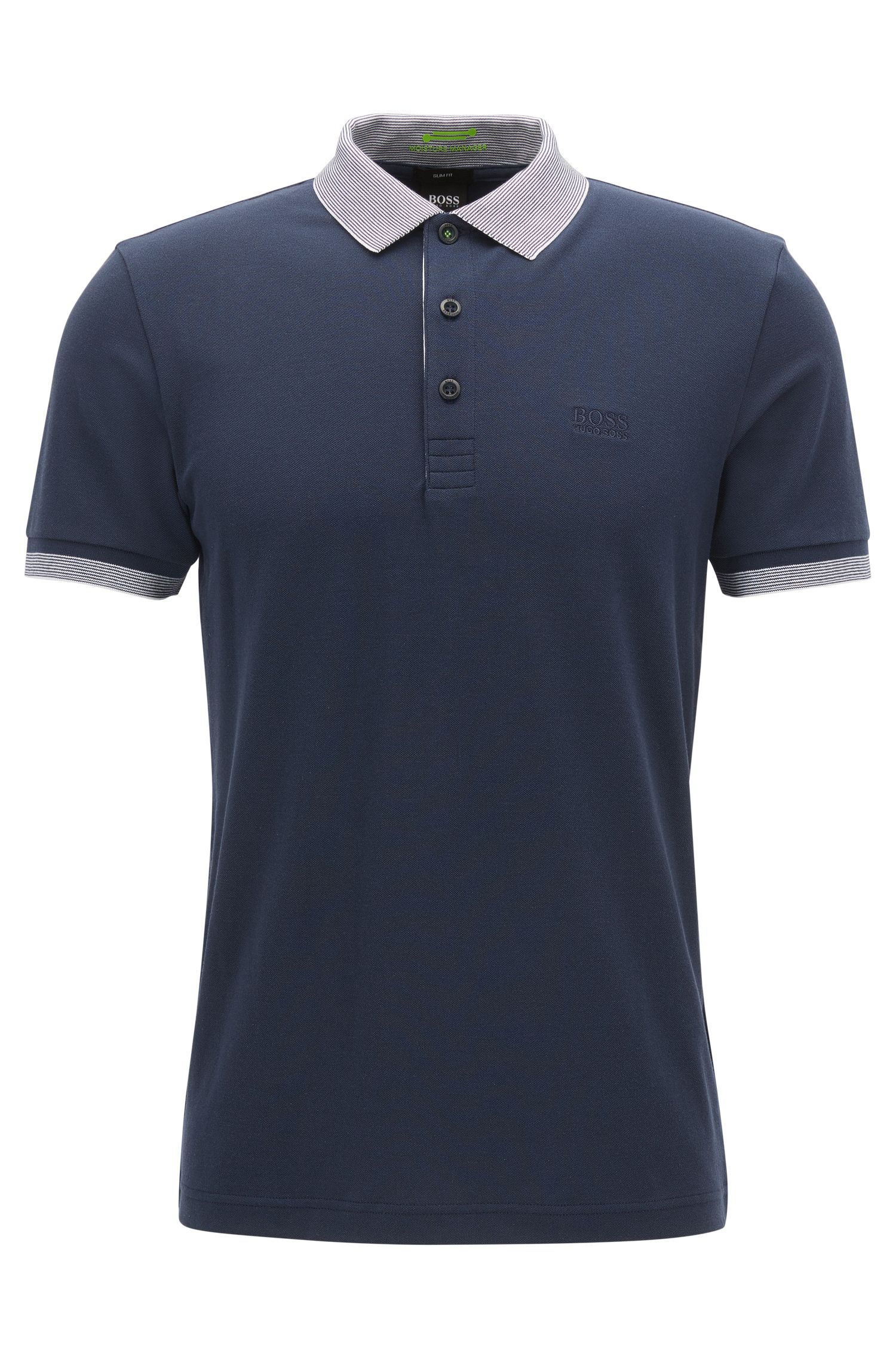 Polo slim fit in misto cotone con S.Café®