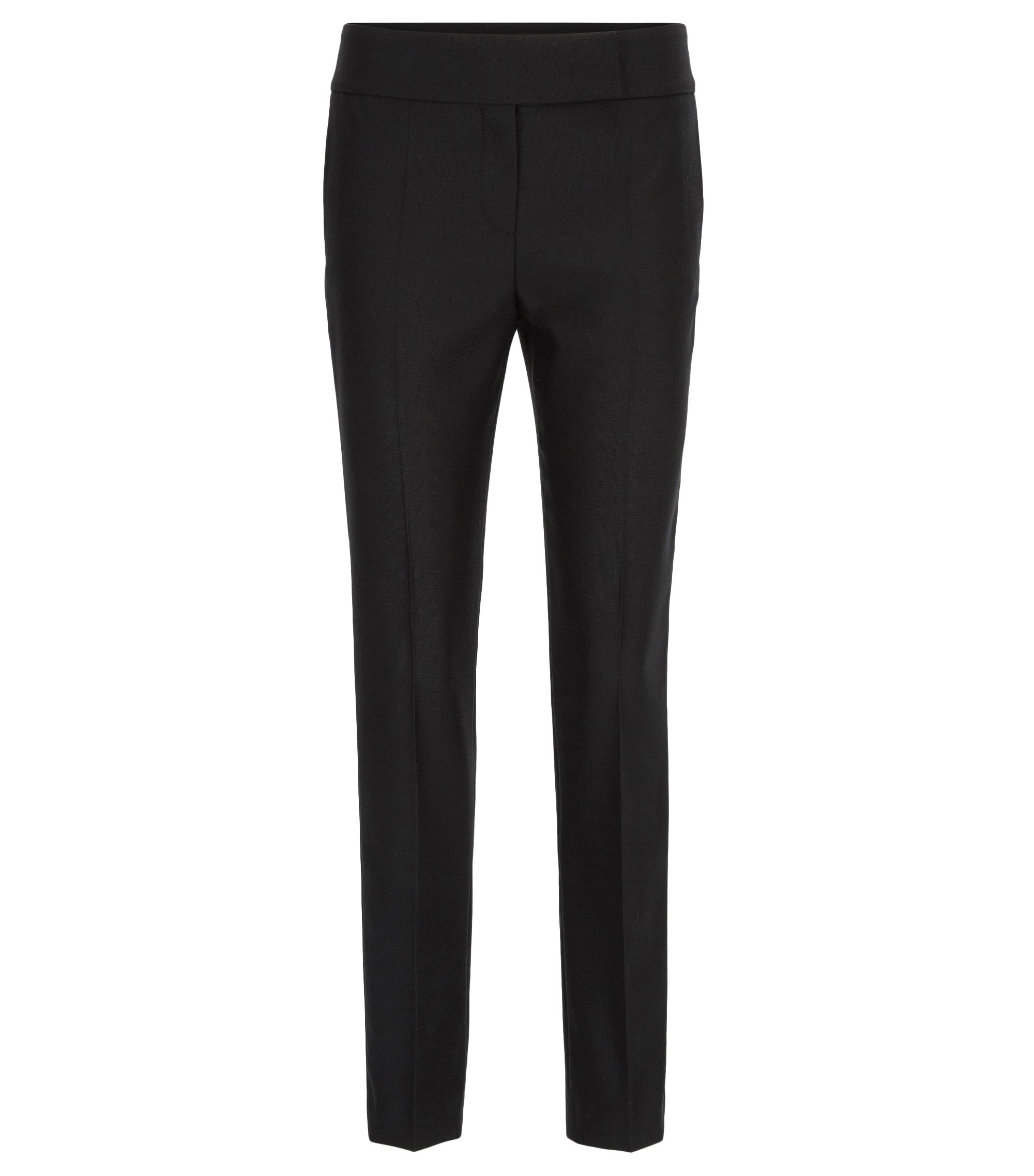 Pantalon de smoking Regular Fit en laine vierge, Noir